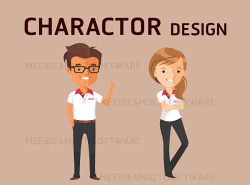 Meeidea Design. ออกแบบตัวการ์ตูน, ออกแบบคาแรคเตอร์การ์ตูน